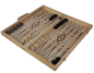 Mobile Preview: 3in1 HOLZ Brettspiel Backgammon (Tavla) - Dame - Schach (47 x 47cm)