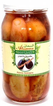 Alssman - Eingelegte ganze Mini Auberginen - Pickled Eggplant (1000g netto)
