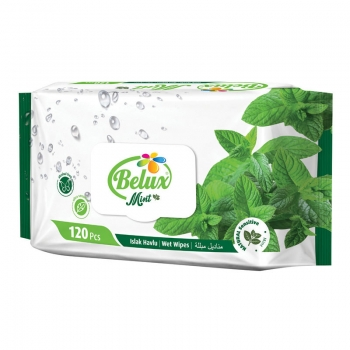 Belux Mint - 120 Ultra Sensitive Feuchttücher - Wet Wipes - im MAXIPACK mit Pfefferminz Duft
