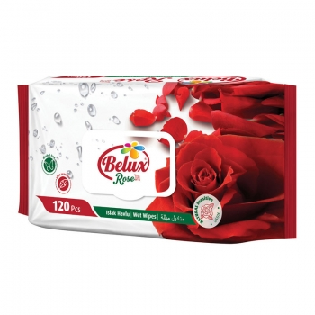 Belux Rose - 120 Ultra Sensitive Feuchttücher - Wet Wipes - im MAXIPACK mit Rosenduft