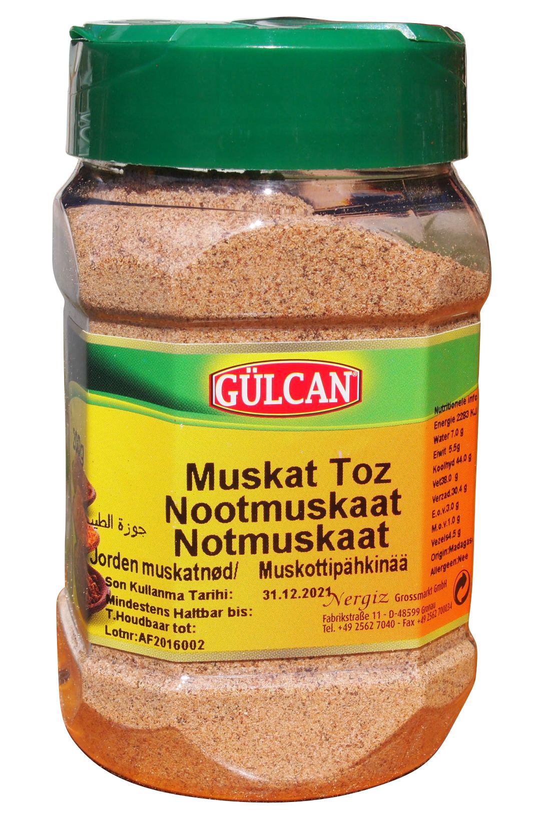 Gulcan Muskat Gemahlen Muskat Toz 200g Onlineshop Fur Turkische Und Orientalische Lebensmittel