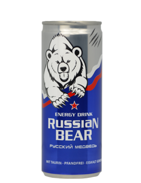Russian Bear  Energy drink - Mit Taurin - Pfandfrei (250ml)