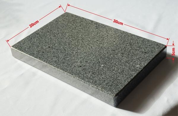rechteckiger grillstein aus granit f r den eckigen grill 30x20x3cm onlineshop f r t rkische. Black Bedroom Furniture Sets. Home Design Ideas