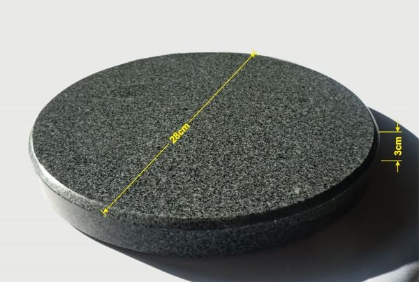 runder grillstein aus granit f r den kugelgrill 28cm durchmesser 3cm stark onlineshop f r. Black Bedroom Furniture Sets. Home Design Ideas